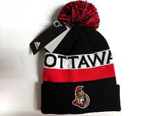 Ottawa Senators Knit Hat Adidas Cuff Pom Cultured Beanie Stocking Cap NHL