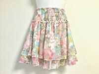 Lizrisa cute and beautiful pastel color floral skirt from Japan(#478903)