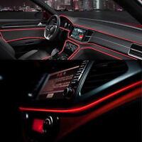 1 Set 2M 12V Red LED Car Interior Decorative Atmosphere Wire Strip Light Lamp
