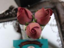 Handmade ROSE BUD Edible Sugar Rose Bud Flower Cupcake Cake Topper