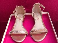 Alannah Hill Monte Carlo Nights Sandals, gold size (AUS) 8 (EUR) 39 (UK) 6.