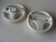 2pcs Black White Blue Mario Kart Steering Wheel Nintendo Wii Remote Controller