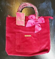 Juicy Couture Pink Velvet Convertible Backpack/Tote Bag/Purse New with Tags