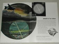 1955 Grumman 2-page advertisement, S2F Submarine Hunter-killer GRUMMAN Airplanes
