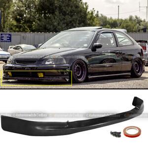 Fits 96-98 Honda Civic 2DR 3DR 4DR JDM Polyurethane CTR Style Front Bumper Lip