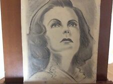 Vintage Painting Drawing Signed Ric1938 Rosa Ponselle by Enrico Aloi