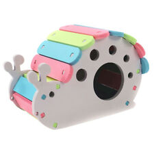 Hamster Hideout SNAIL House Wooden Hut Pet Bedding Cage Chew Toy