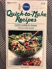 Pillsbury Classics #53 - Quick to Make-Carefree Cooking - Recipe Cook Book