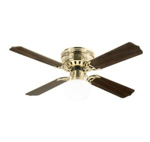 Westinghouse 7213800 Non-LED Polished Brass Indoor Ceiling Fan with light, 42 in