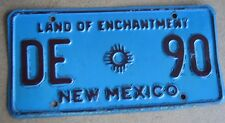 "NEW MEXICO DRIVER EDUCATION LICENSE PLATE  "" DE 90 ""  RARE TYPE EXEMPT"