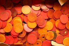 Genuine BAKELITE USA 1950's   poker chips 37mm diameter various thickn 300 grams