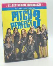 Pitch Perfect 3 (Blu-ray+DVD+Digital, 2018; 2-Disc Set) NEW w/ Slipcover