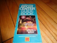 Walt Disney World Epcot Center Guide Book Brochure