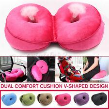 Dual Comfort Memory Foam Cushion Butt Orthopedic Brace Hip Lift Up Seat Pa