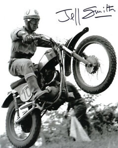 JEFF SMITH SIGNED AUTOGRAPHED 8x10 PHOTO BRITISH MOTOCROSS LEGEND BECKETT BAS