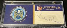 2011 UD SP Leg. Cuts President Ronald Reagan Emblem Cut Signature Book Auto 2/2