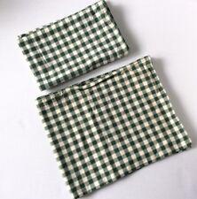 "WAVERLY Home Fashion Green & Ivory Woven Plaid Check Valance Pair W 75"" X L 15"""