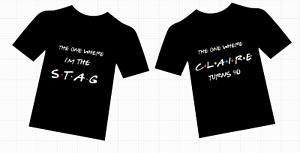 Personalised stag, hen, friends, birthday t-shirts all sizes all colours