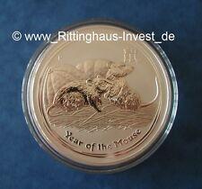 Lunar II ratón 2008 1oz moneda de plata onza plata mouse 1 $mouse rata Australia