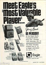 1977 ADVERT Johnny Bench Personal Appearance Baseball Ball & Bat Toy Set Eagle