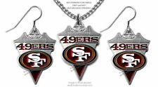 SAN FRANCISCO 49ERS NECKLACE & EARRINGS SET FOOTBALL JEWELRY GIFT FREE SHIP #CA*