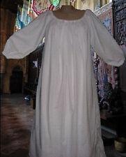White or Natural 56 inch Cotton Chemise SCA LARP Renaissance Faire Pennsic