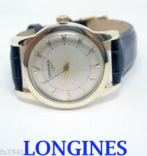 Solid/Heavy 14k LONGINES Automatic Watch 1960s Cal.19AS Ref 3576* EXLNT SERVICED