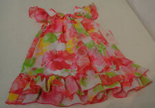 Jona Michelle Girl's Party Dress-FLORAL WITH 3 FLOWERS AT NECK-3T-NWT