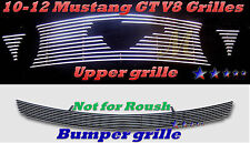 2012 11 10-12  Ford Mustang GT V8 Bolton Billet Grille Combo 4PC 2010 2011