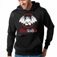Drakuhla Dracula Vampir Kuh Comic Sprüche Fun Kapuzenpullover Hoodie Sweatshirt