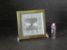 Art Deco desk CLOCK bayard luxus uhr mechanics old antique Nickel chrome VINTAGE
