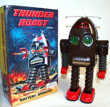 Thunder Robot Tin Toy Battery Operated Space Toy for display only