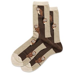 Barn Owls Hot Sox Women's Crew Socks Hemp H New Novelty Birds of Prey Fashion