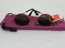 New Vintage B&L Baush & Lomb Kids Covers Round Metal Red 40mm Sunglasses USA