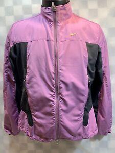 NIKE Dri-Fit Purple Zip Front Windbreaker Woman's Jacket Size S (4-6)