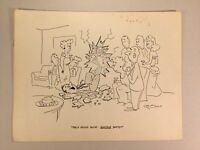 Original Gag Panel Comic Strip Cy Olson Cartoon SIGNED 1960s 20