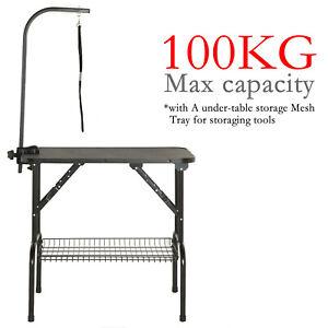 Pet Dog Grooming Bath Table Steel Arm Non Slip Folding Adjustable Height 100kg