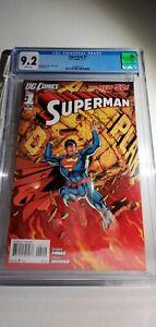 SUPER RARE SUPERMAN #1 CGC GRADE 9.2 DC COMICS THE NEW 52 💎 ONLY 1 ON EBAY 💎