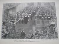 Memorial late Queen of denmark German  Chapel St james's London 1898 print