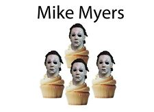 Halloween Mike Myers cupcake toppers, cupcake decor 24 pcs