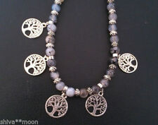 Agate Charm Round Stone Costume Necklaces & Pendants