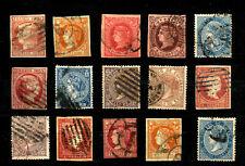 SPAIN:XIX CENTURY CLASSIC ERA ISABELLA STAMPS LOT 1852-1867