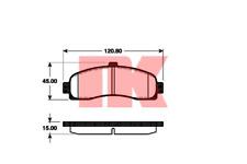 Bremsbelagsatz Scheibenbremse - NK 222239