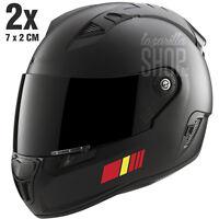 2x Pegatinas BANDERAS ESPAÑA Pegatina sticker vinilo para el casco coche moto