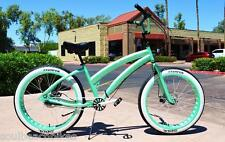 Fat Tire Beach Cruiser - SOUL MISS STOMPER - MINT GREEN 3 speed ladies