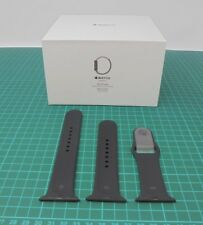 Genuine Official Apple Watch Black Sports Band Strap - 38mm S/M & M/L - AB24