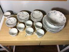 Johann Haviland Blue Garland Dishes lot plates, cups, bowls, 8 serving set