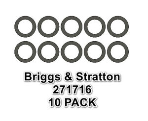 USA MADE 10 PACK OF SEALING WASHERS FITS 271716 BRIGGS & STRATTON GASKET