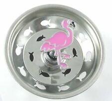 Pink Flamingo Kitchen Sink Strainer - Stainless Steel - 15SS