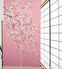 Romantic Oriental Cherry Sakura Pub Hanging Japanese Noren Door Curtain Decorate